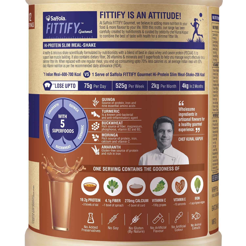 Buy Saffola FITTIFY Gourmet HI PROTEIN SLIM MEAL-SHAKE Swiss