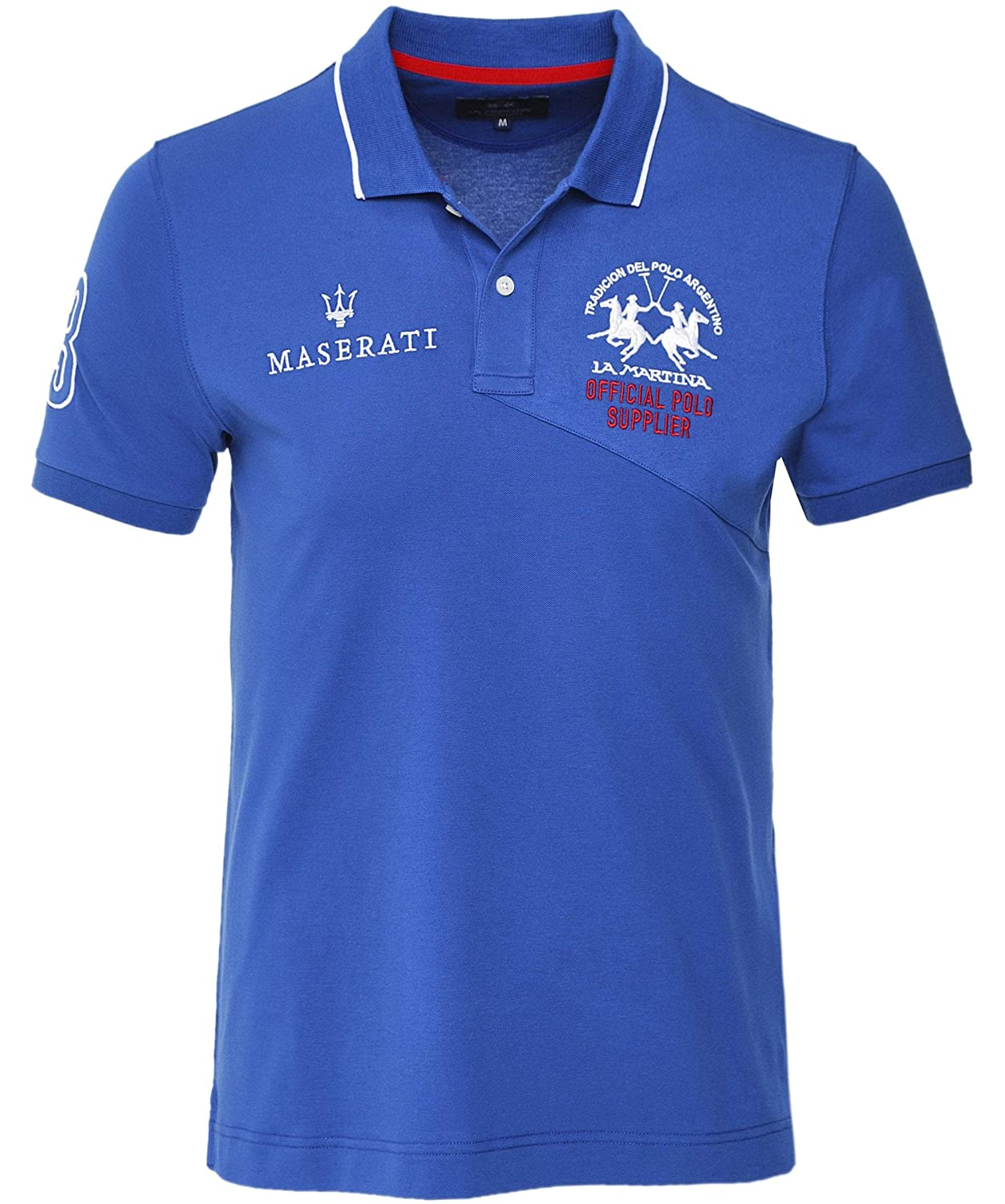 La Martina Hombres Polo Regular Fit Ok Azul L: Amazon.es: Ropa y ...