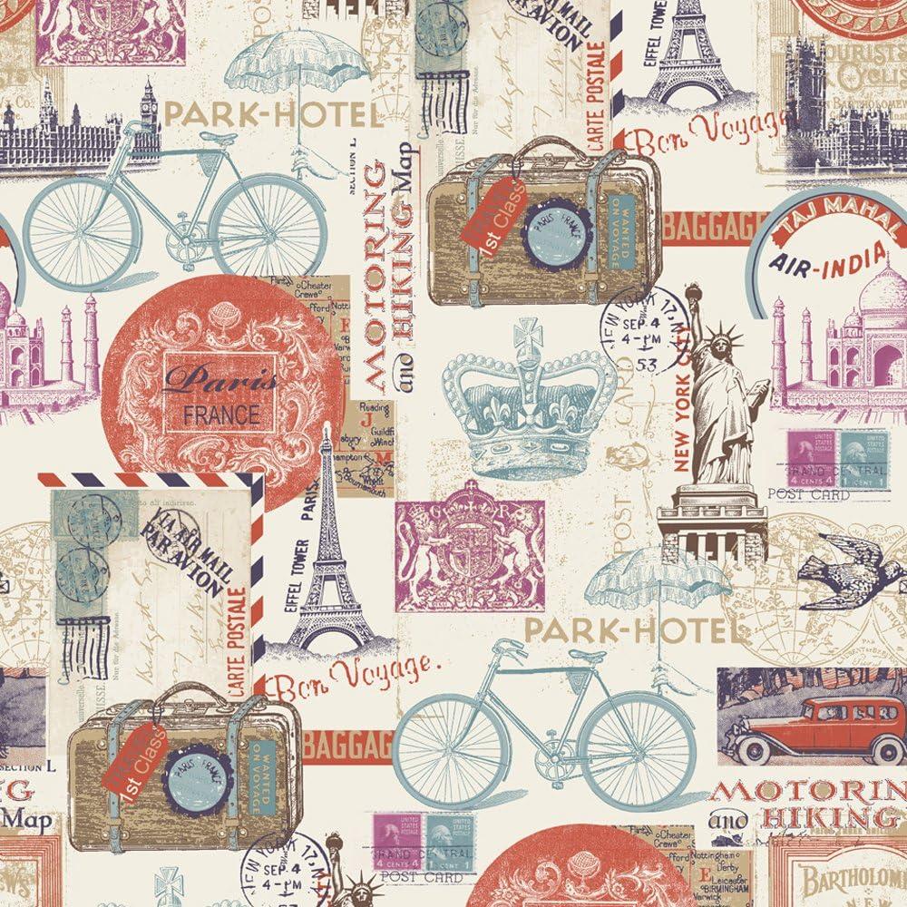 Muriva 102516 - Papel Pintado, diseño Postales de Londres ...