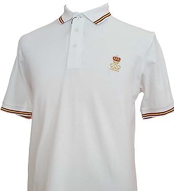 Polo Liso Bandera de España Blanco Patrón de Embarcaciones de ...