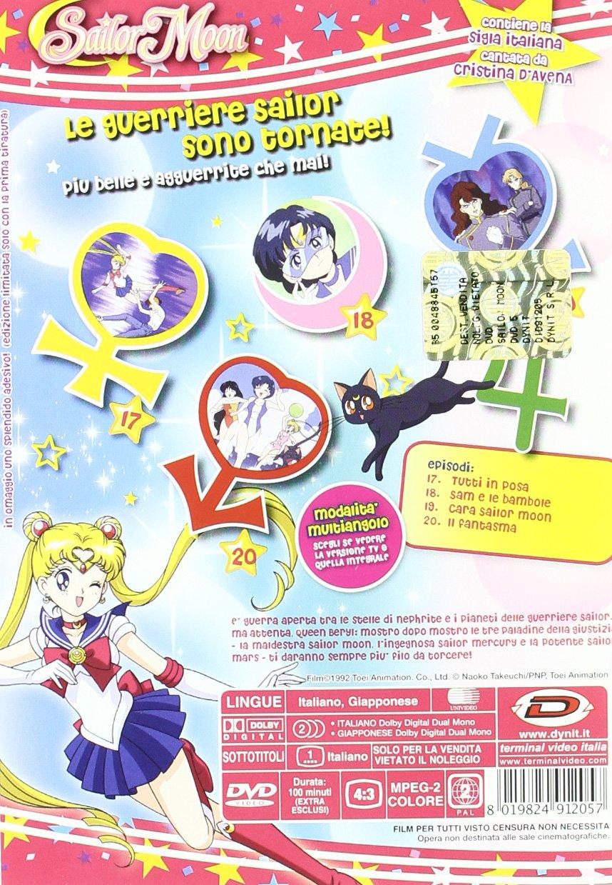 Sailor Moon #05 - Cara Sailor Moon Eps 17-20 Italia DVD: Amazon.es: Junichi Sato: Cine y Series TV