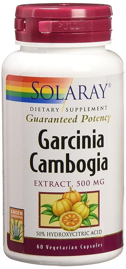 Solaray - Magnesio garantizado del extracto de Camboya de Garcinia 500 de la potencia. -