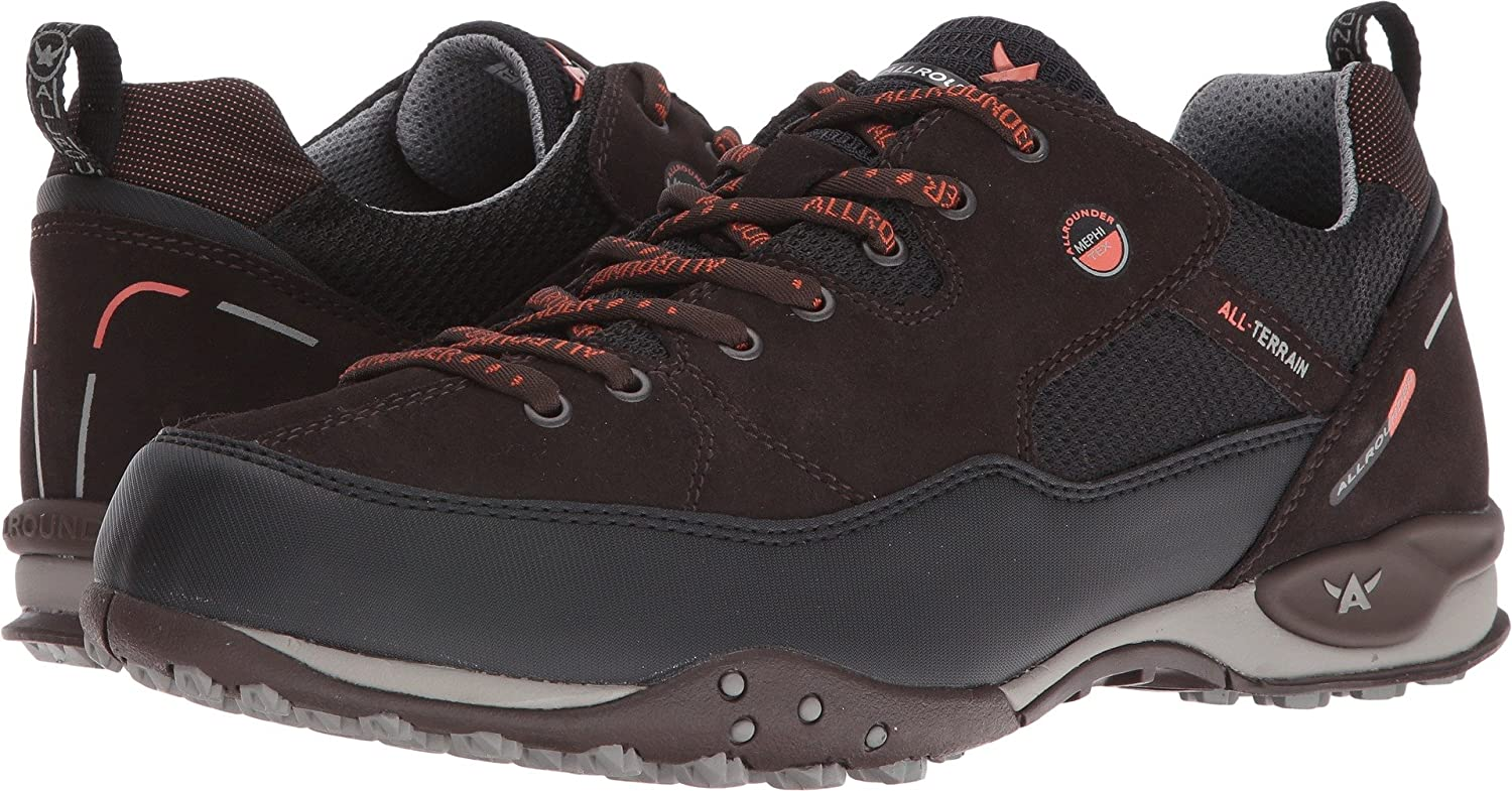 Allrounder by Mephisto Mens Tacco Tex Black Rubber N/Rovere Dark Brown Suede