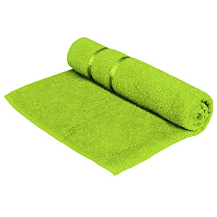 Story@Home 100% Cotton Soft Towel Single Piece, 450 GSM - 1 Full Size Bath Towel - Green
