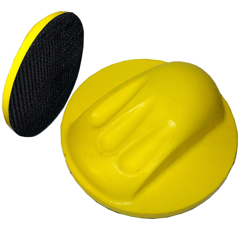 1 Ponceuse manuelle jaune 150 mm rond pour lP3G excenterschleifpapier bloc à poncer Ludwiglacke