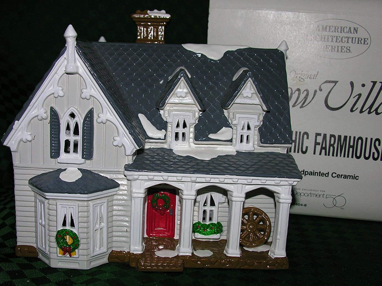 Department 56 Snow Village Gothic Farmhouse 5404-6