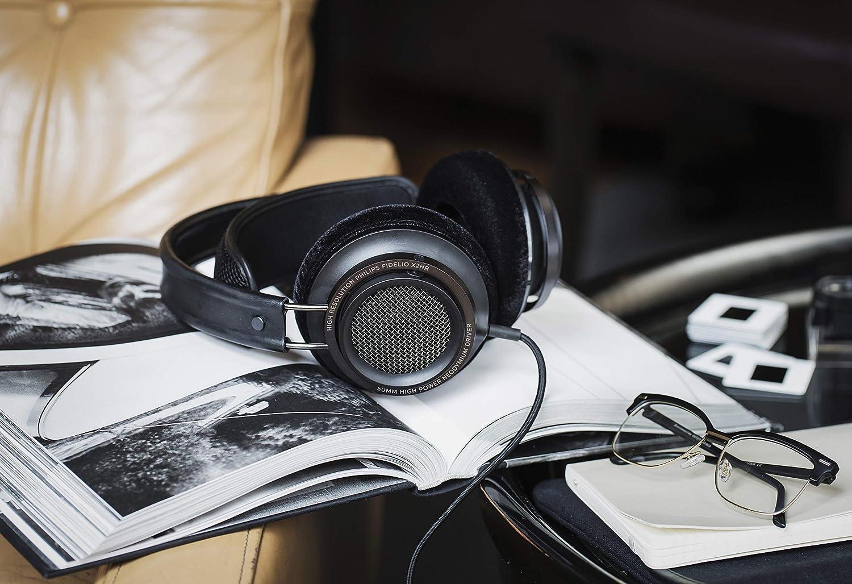 Noir Audio Haute R/ésolution, Supra-aural, /écouteurs Deluxe en Mousse, Clip pour Le Fil, diaphragme de 50 mm en n/éodyme Casque Philips Fidelio X2HR//00