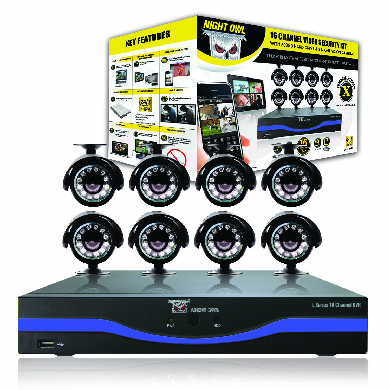 Amazon.com : Night Owl Security L-165-8511 16-Channel DVR with ...