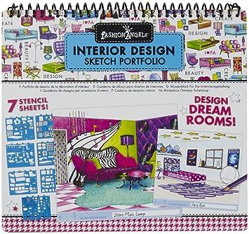 fashion angels interior design sketch portfolio amazon co uk baby rh amazon co uk