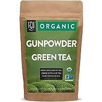 Organic Gunpowder Green Loose Leaf Tea | Brew 200 Cups | 16oz/453g Resealable Kraft Bag | by FGO