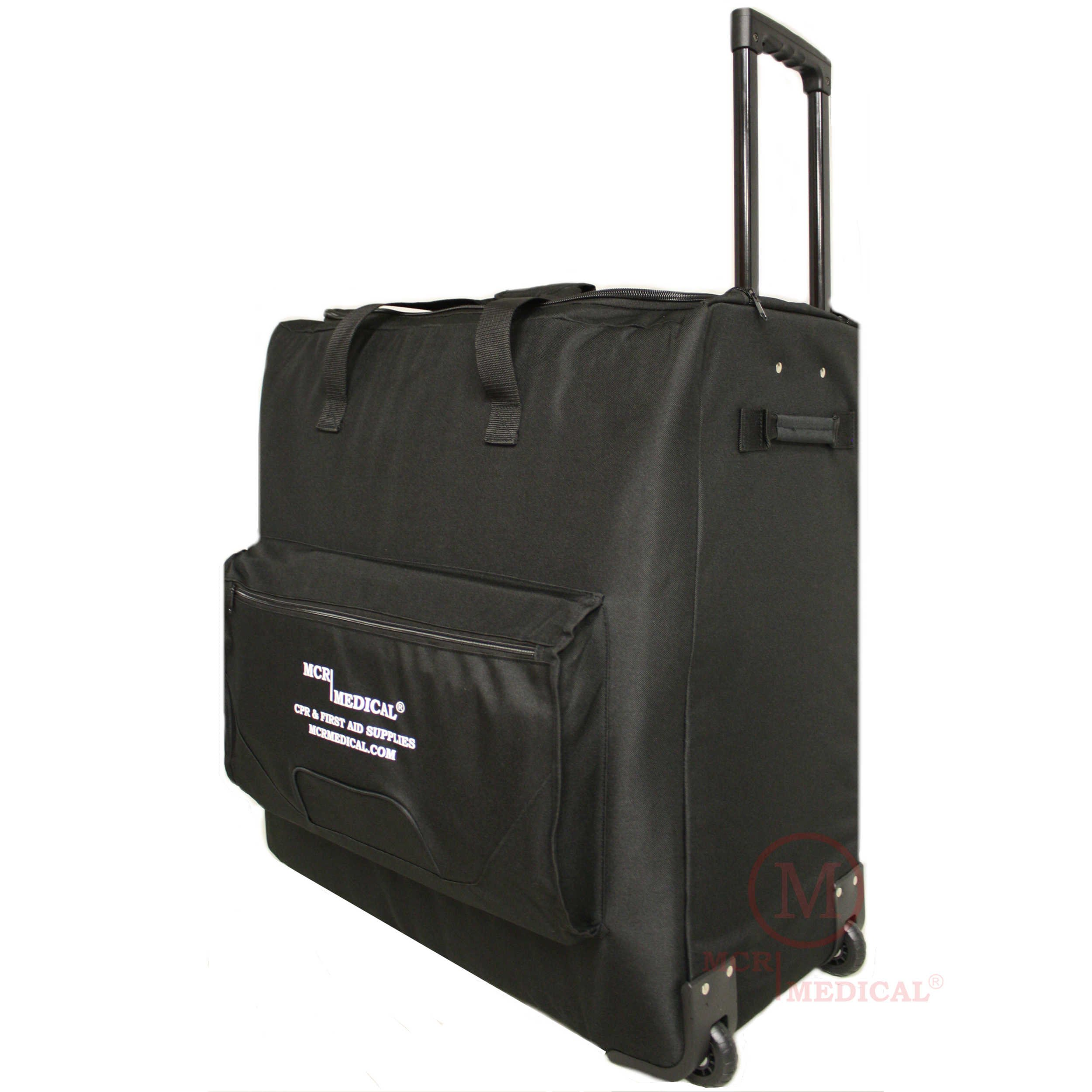 CPR Manikin Carryall Bag with Wheels/Wheeled CPR Training Case, MCR Medical