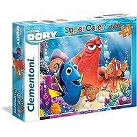 Clementoni - 24054 - Supercolor Puzzle - Findig Dory - Friends Make Colorful - 24 Maxi Pezzi - Disney