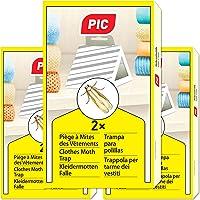 PIC kleding-mottenval - set van 3 = 6 stuks - middel tegen kledingmotten, geschikt voor bescherming van alle kleding in…