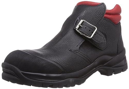MTS Sicherheitsschuhe Santos Professional Hammer S3 HRO/Hi/Ci 4004 - Calzado de Protección de Piel Para Mujer Negro Schwarz (Schwarz/Rot) 39 rf0Hq7jC