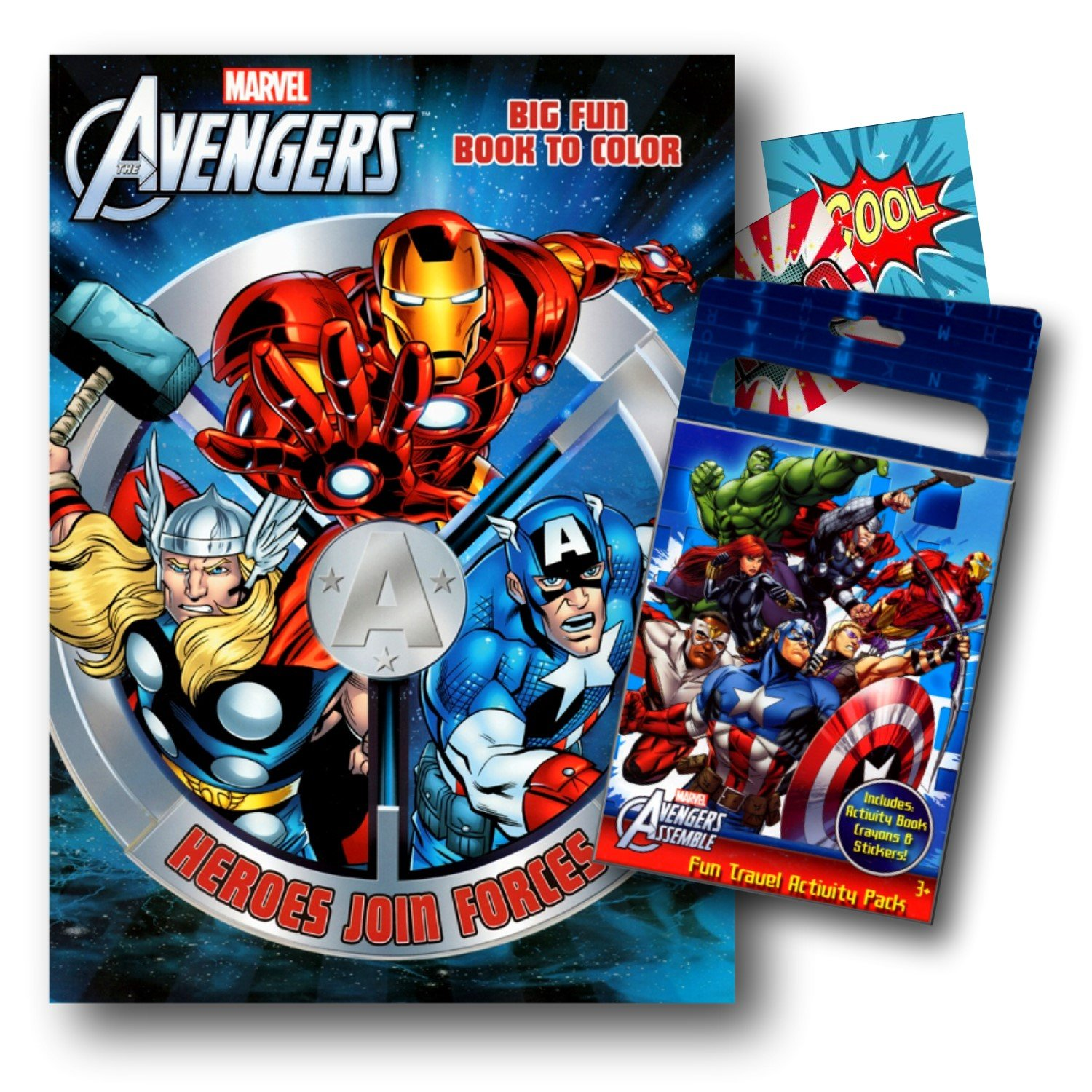 Amazoncom Marvel Avengers Coloring Book With Fun Set (Coloring Book