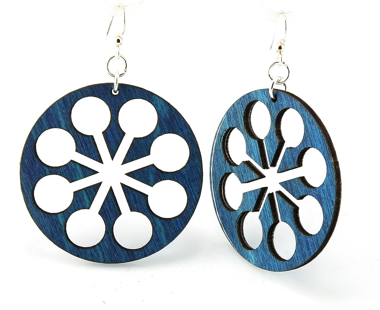Circle Snowflake Earrings