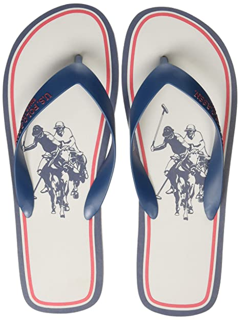 d0705df5795f US Polo Association Men s Sardinian Grey Flip Flops Thong Sandals-11 UK  India (