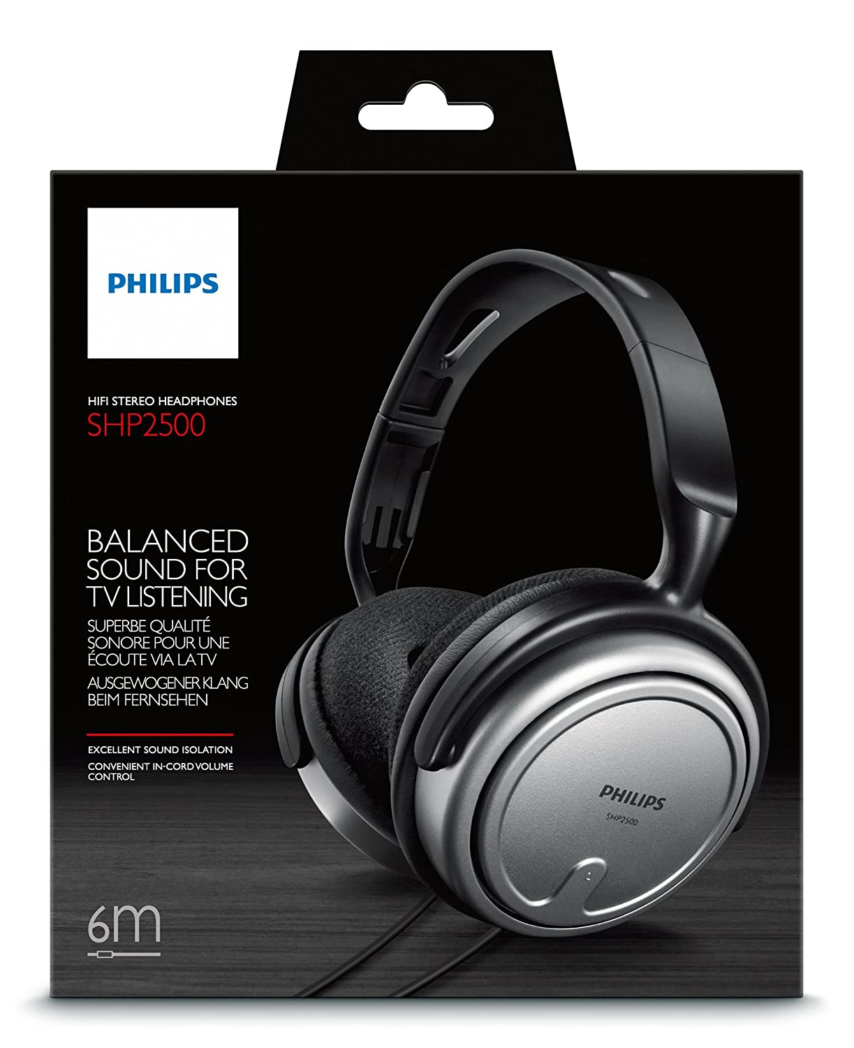 Philips SHP2500/10 Auriculares interior con cable para TV: Amazon.es: Electrónica