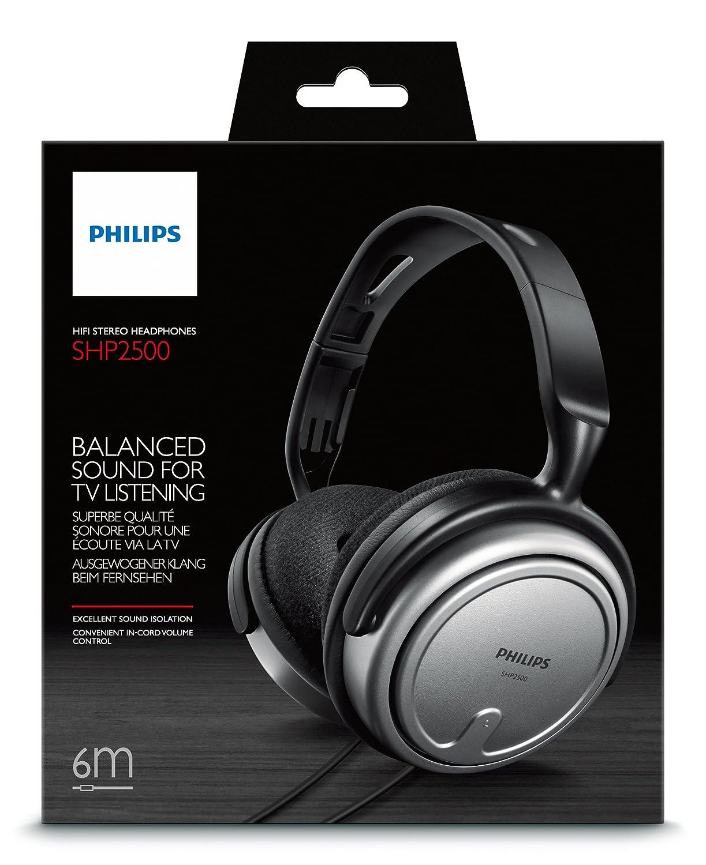 Philips SHP2500/10 Auriculares interior con cable para TV: Amazon.es: Electrónica