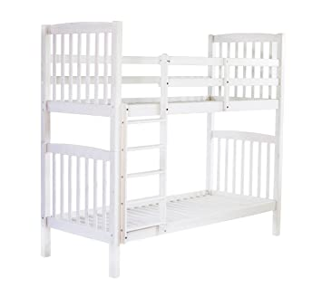 Ambientehome 90417 Bett, Holz, weiß, Single, 213 x 98.5 x 190 cm ...