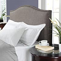 Dorel Living Winsted Linen King Headboard with Nailheads, Deals