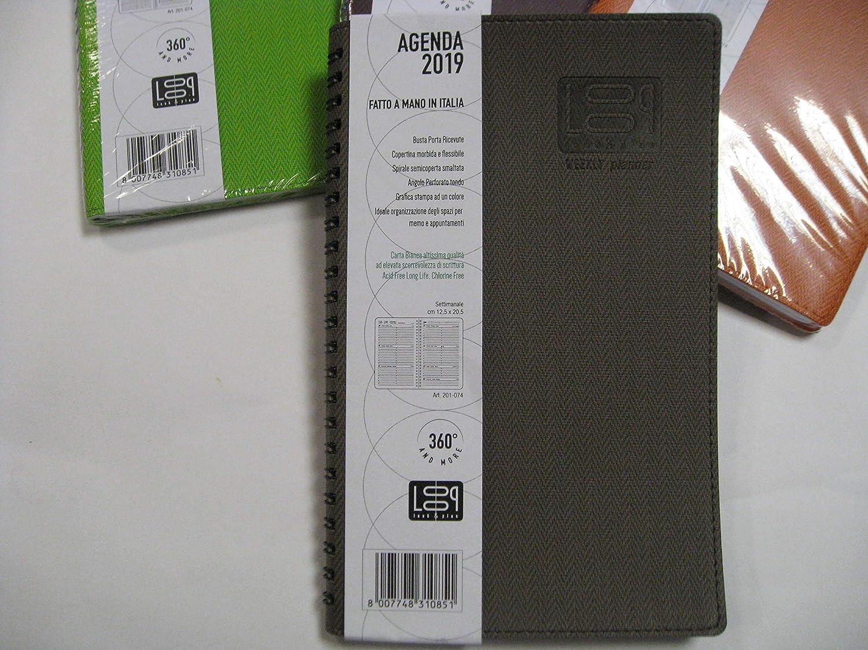 Agenda 2019 Semanal Loop f. to 12.5 x 20.5 cm, color marrón ...