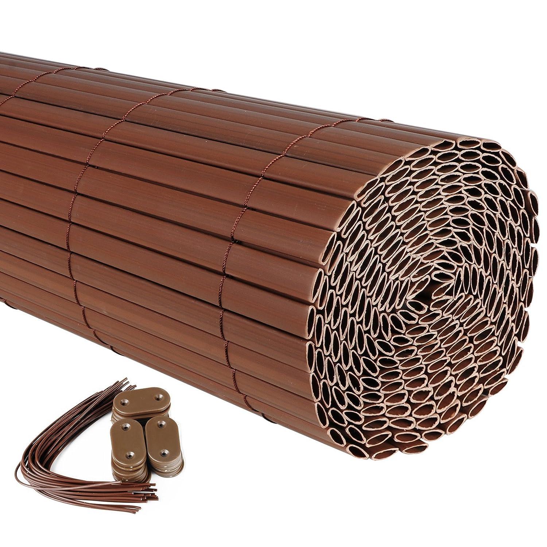 Protector de Pantalla Protector de Viento para Balc/ón Valla de Toldo de Jard/ín GZZ1184gr1 Woltu Visera de Pantalla de PVC 300 x 80 cm Gris