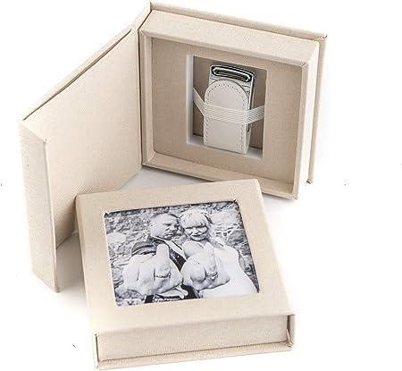 codiarts. Memoria USB 3.0 de 16 GB en Elegante Caja USB con Ventana de Imagen. para Bodas, fotógrafos, Recuerdos de Vacaciones, Regalo (Crema).: Amazon.es: Hogar