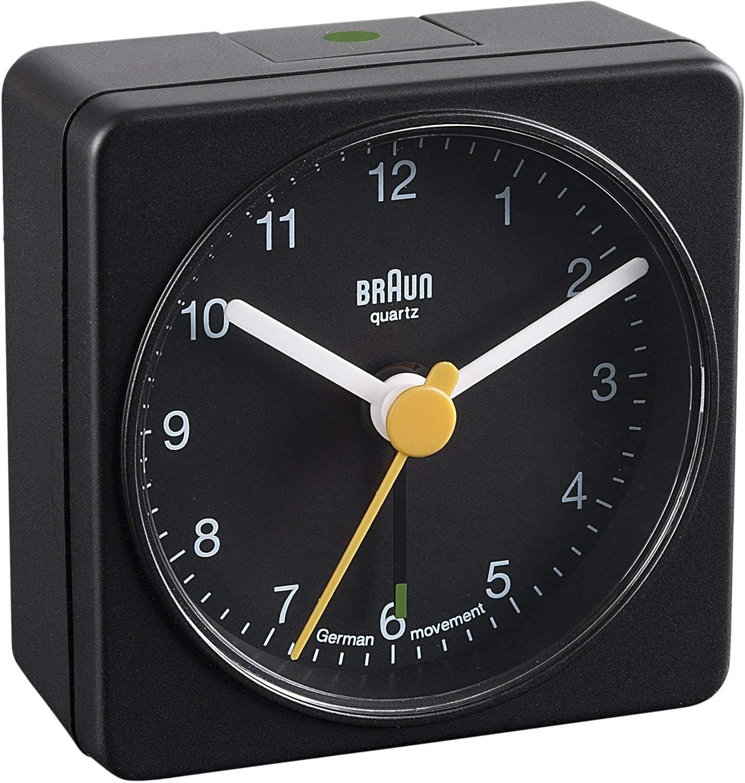 Braun BNC002 Classic Travel Alarm Clock, Black