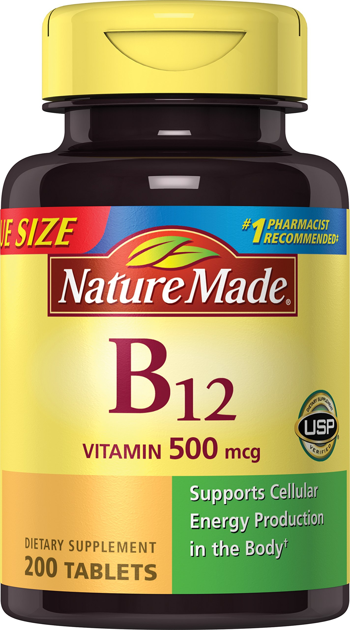 Nature Made Vitamin B-12 500 Mcg, Tablets, 200-Count