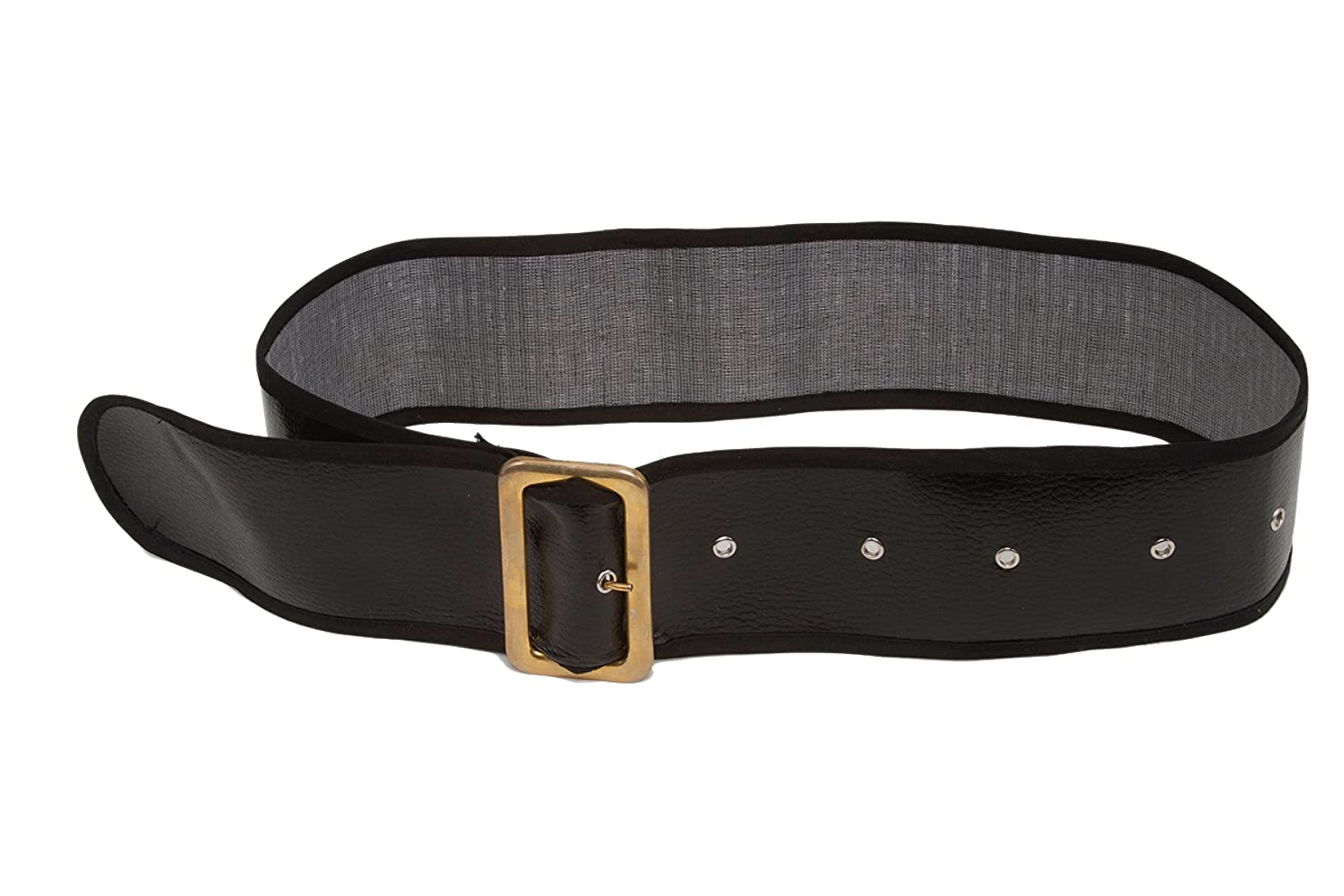 Jacobson Hat Company Mens Shiny Belt with Gold Buckle