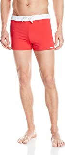 product image for Sauvage Men's Retro Lycra Solid Swim Trunk