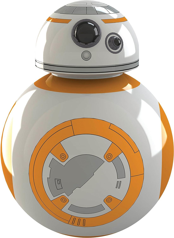 Zeon Abridor Botellas BB8 Star Wars, Blanco y Naranja, 9x3.5x6.6 cm