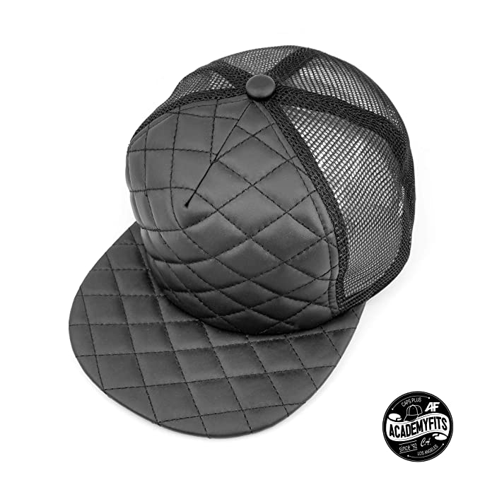 28d5ad91caf AcademyFits Quality 5 Panel High Crown Foam Quilted Trucker Mesh Snapback  Adjustable Fit Men Women Unisex