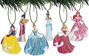 Disney's Glitter Princess Ornament Set of 6