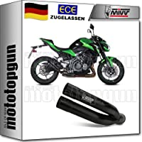 Tubo de escape doble de Mivv negro Z900
