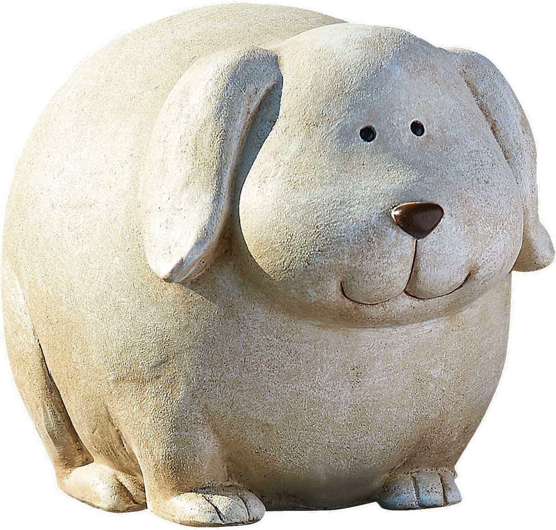 Roman Garden Pudgy Pals Standing Dog Garden Statue, 6.25-Inch
