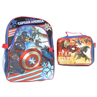 Marvel Captain America Civil War Backpack With Lunch Tote