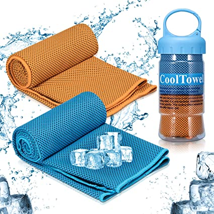 iTrunk Cooling Towel, Super Absorbent Sweat Towel for Instant Cooling Relief, Ice-Cold Sports Towel Stay Cool for Yoga Travel Climb Golf & Outdoor Sports