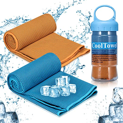 Amazon.com : Fencos Cooling Towel, iTrunk Super Absorbent Sweat Towel for Instant Cooling Relief, Ice-Cold Sports Towel Stay Cool for Yoga Travel Climb Golf ...