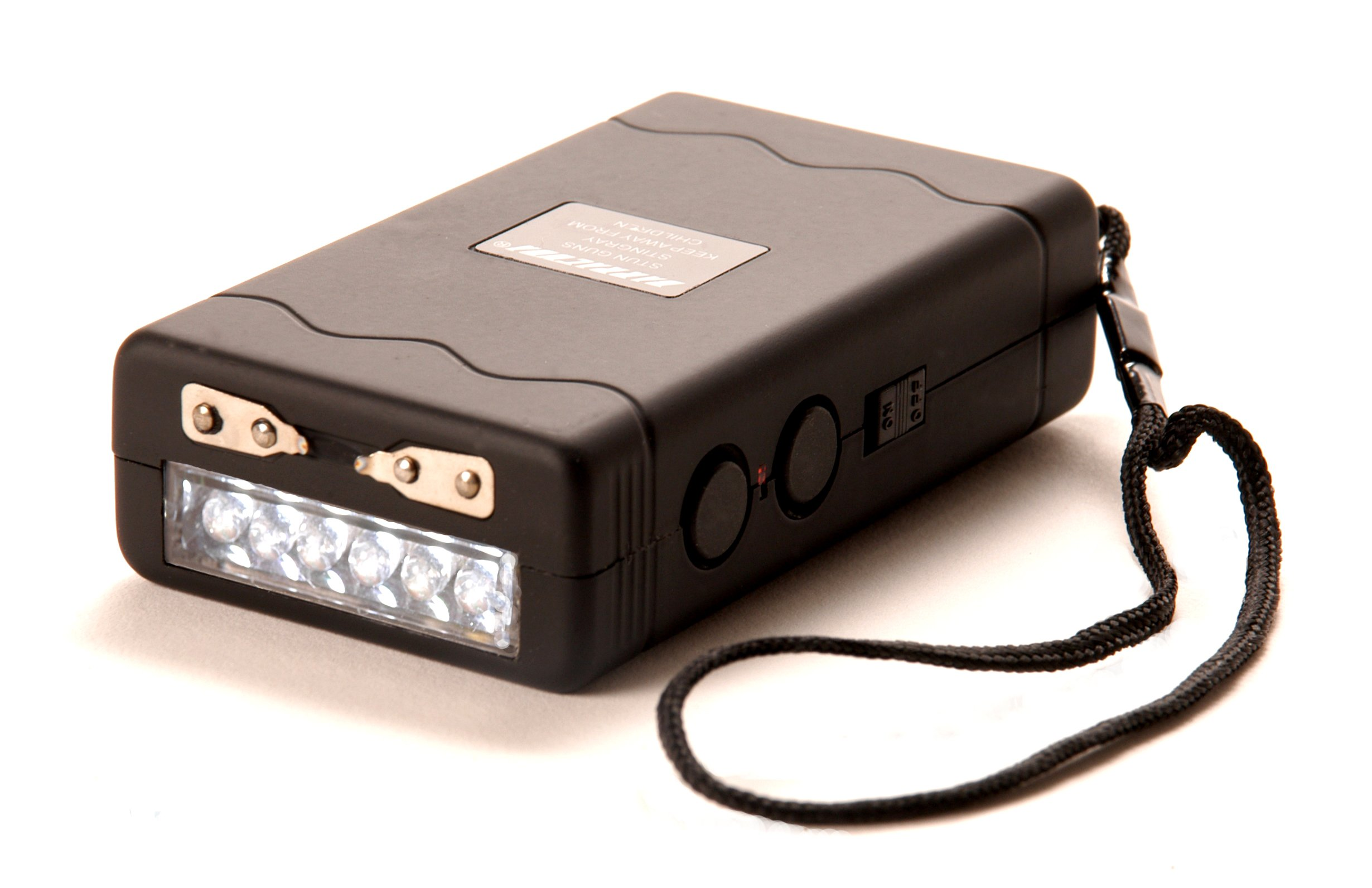 Barracuda Stingray Rechargeable Stun Gun with Safety/Disable Pin 6 LED Light