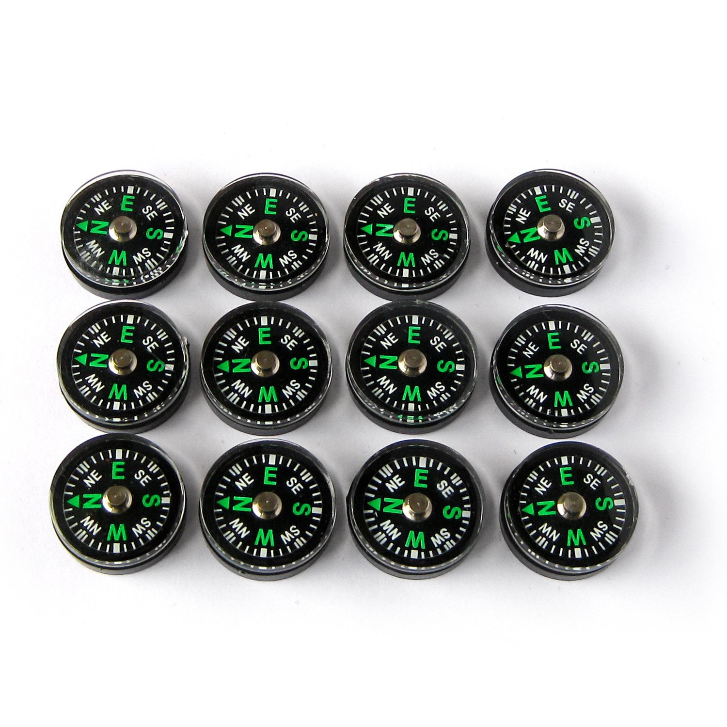 12 Pieces Mini Compass 2 cm WeeBeo