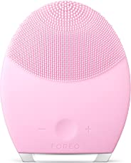 FOREO LUNA 2 Facial Cleansing Brush and Portable Skin Care device made with Ultra Hygienic Soft Silicone for Every Skin Type