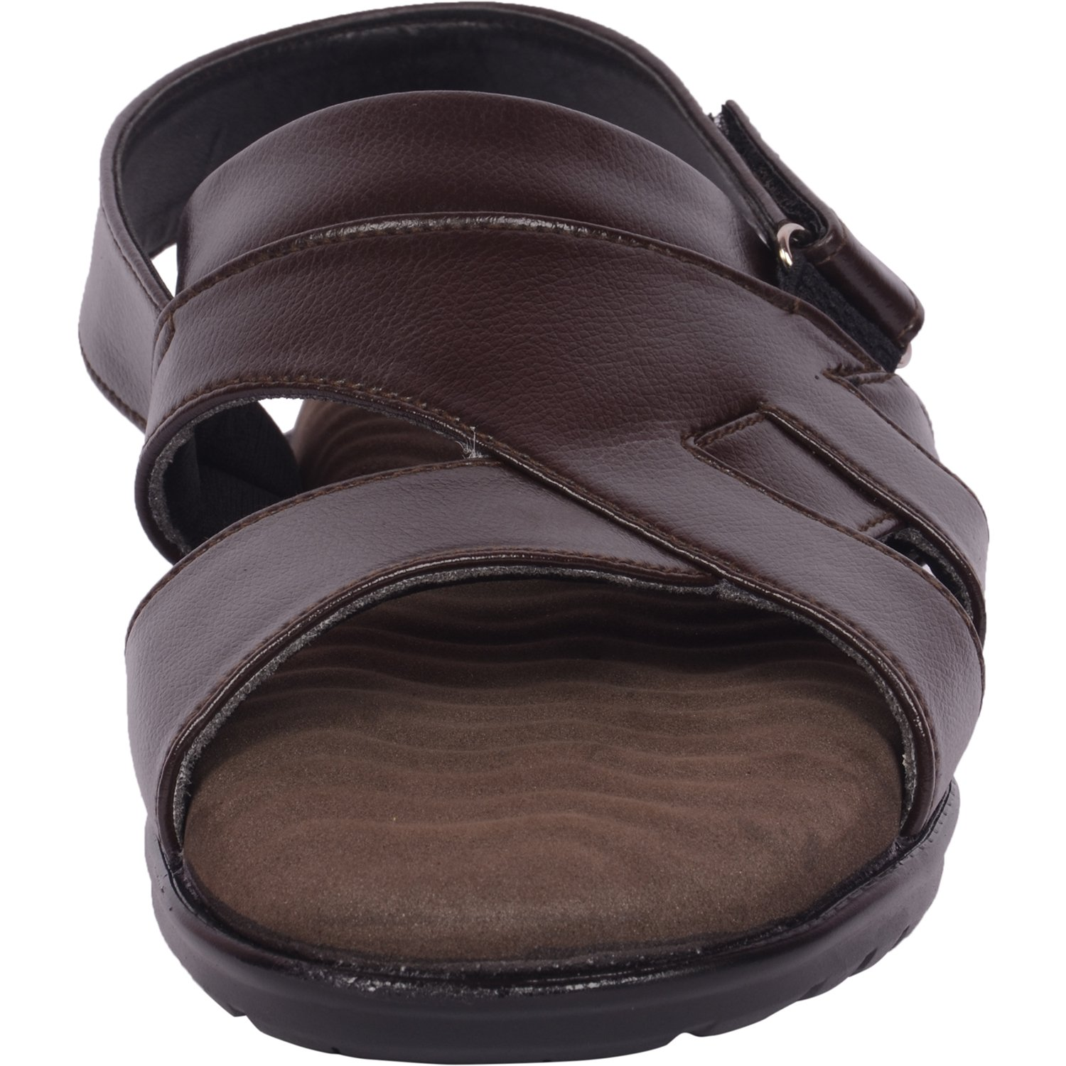 8606a093e7dc Vonzo Men Brown Soft Heel Pain Doctor Sandal Therapy 051  Buy Online at Low  Prices in India - Amazon.in
