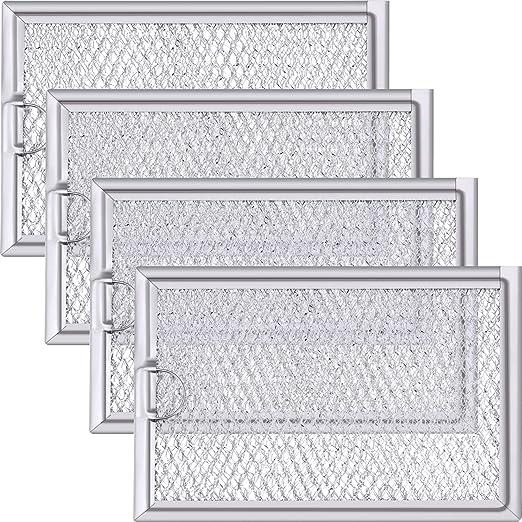 Jetec 4 paquetes WB06X10654 Filtro de grasa para microondas ...