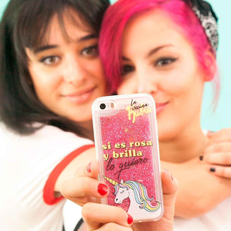 La Vecina Rubia Funda Smartphone - Transparente y Compatible con Apple iPhone 5 / 5S / SE