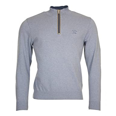 Paul   Shark Knitted 1 4 Zip Sweater 2X. Large Pale Blue  Amazon.co ... 106241f51348