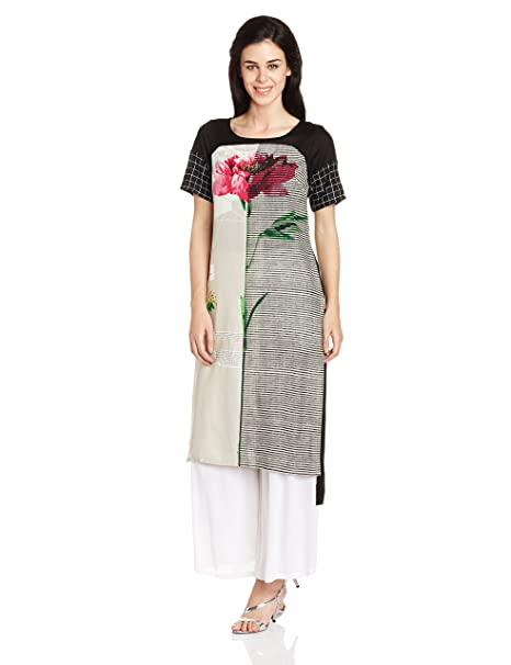 W for Woman Women's Straight Kurta Kurtas at amazon