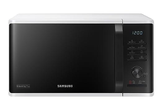 Samsung MG23K3515AW Encimera - Microondas (Encimera, Microondas con grill, 23 L, 1100+800 W, Botones, Giratorio, Blanco)