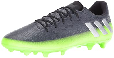 buy online 8fa63 03008 adidas Men s Messi 16.3 fg Soccer Shoe Dark Grey Metallic Silver Neon Green  10